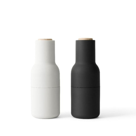 Bottle Grinder Ash & Carbon 2 pcs, beech lid