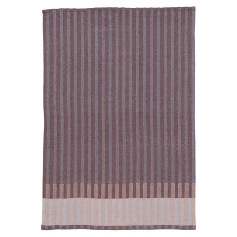 Grain Jacquard Tea Towel - Bordeaux