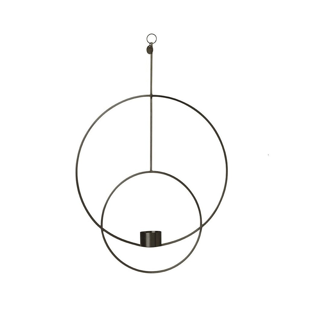 Hanging Tealight Deco - Circular - Black