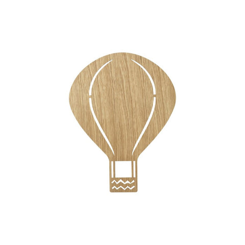 Air Balloon Lamp Oiled Oak