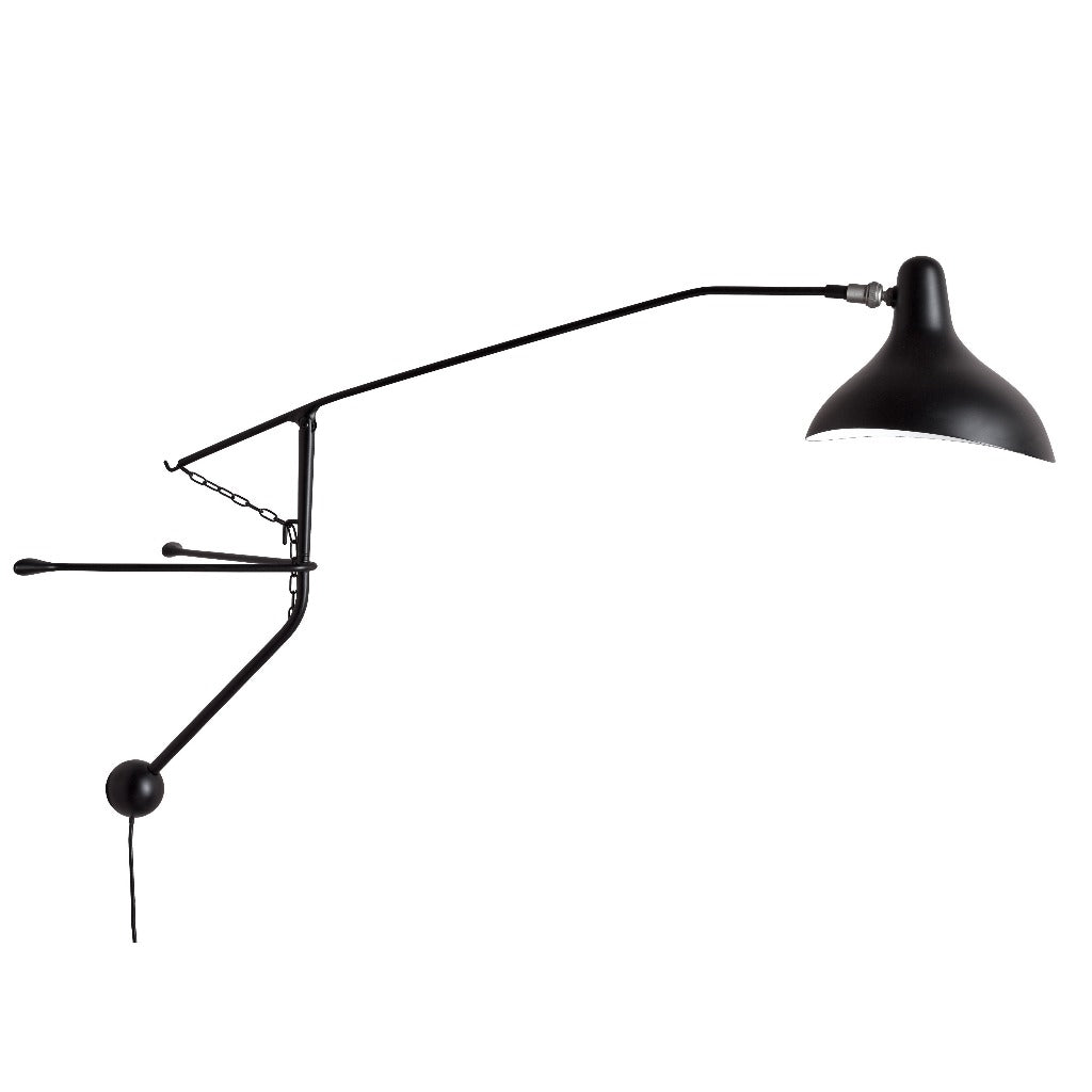 DCW éditions Mantis BS2 Mini Wall Lamp, black