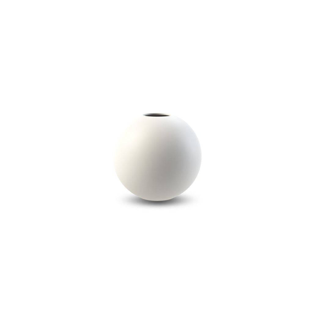 Vaso Ball 8 cm bianco di Cooee Design