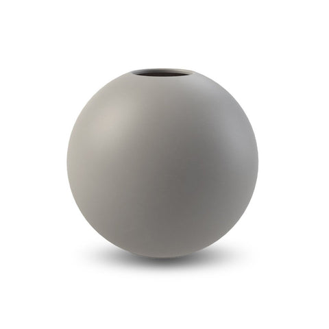 Ball Vase 20 cm Grey