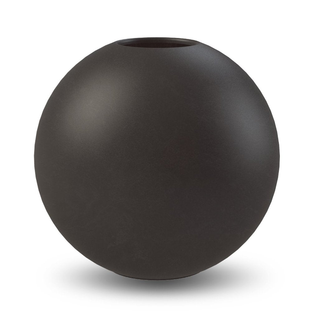 Ball Vase 30 cm Black