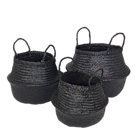 Ilse basket, set of 3, black