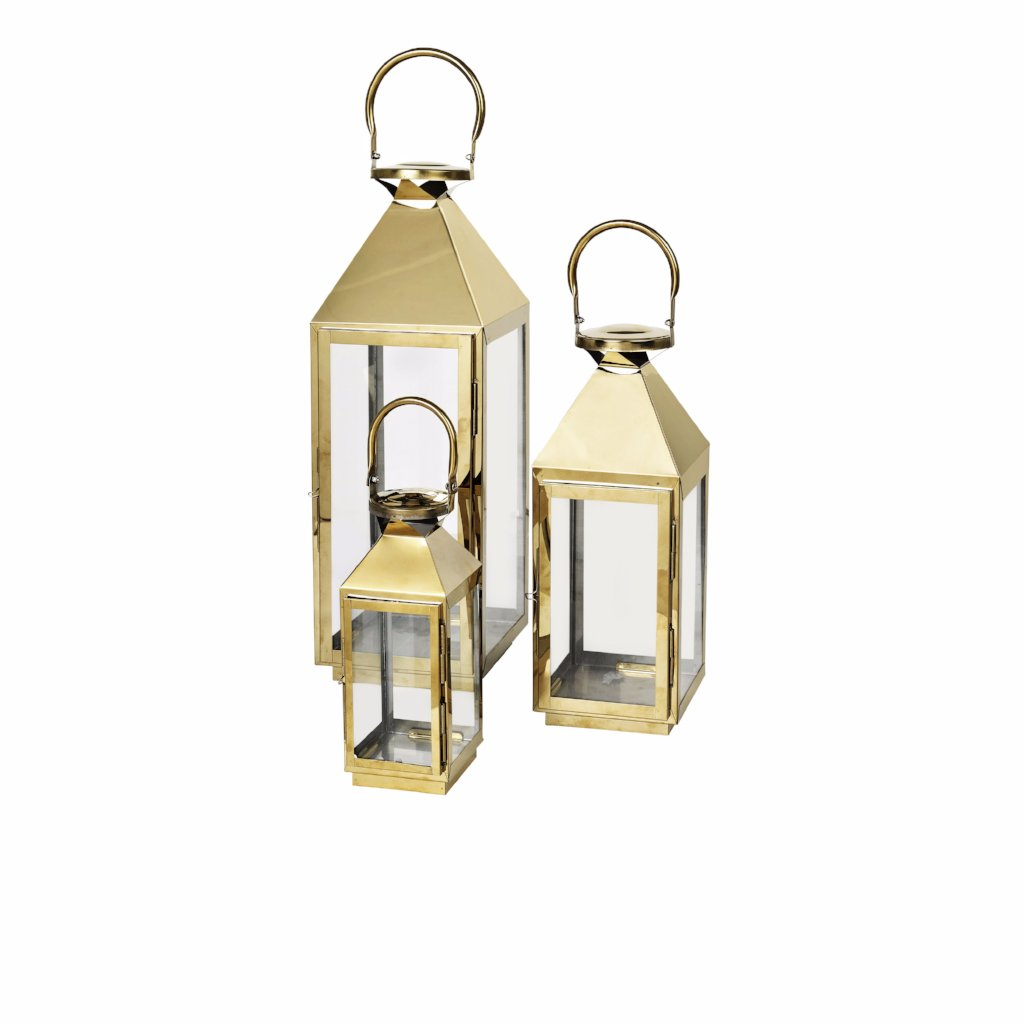 Frit Lanterns, brass set of 3