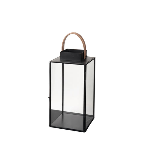 Steinn Lantern black with leather handle