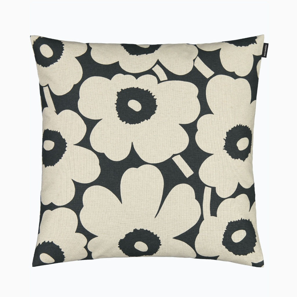 Marimekko PIeni Unikko Cushion Cover 50x50 cm green & cotton