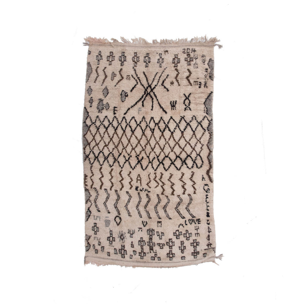 Love Letter Berber rug by Mad Design