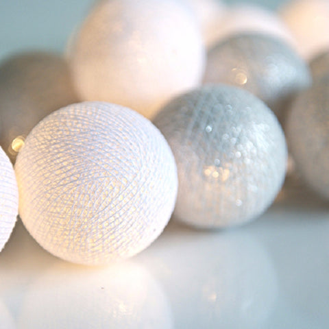 Cotton ball 20-lights Silver