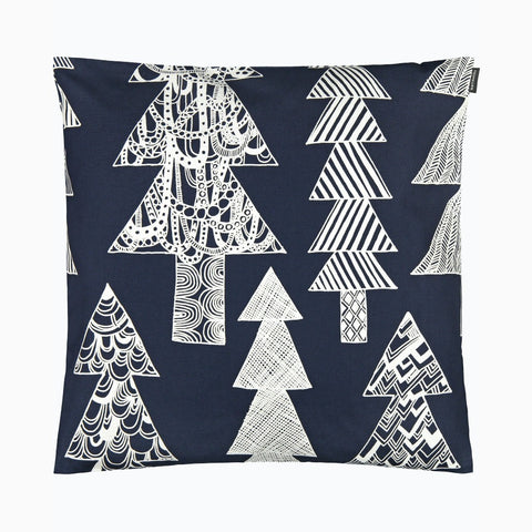 Kuusikossa Cushion Cover, dark blue & white 50x50 cm