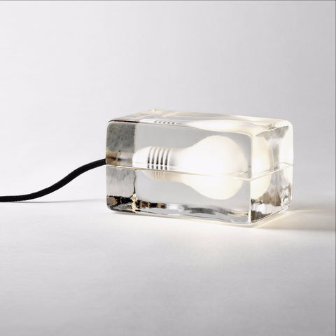 Block lamp black cord