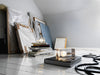Block lamp corda nera, design di Harri Koskinen