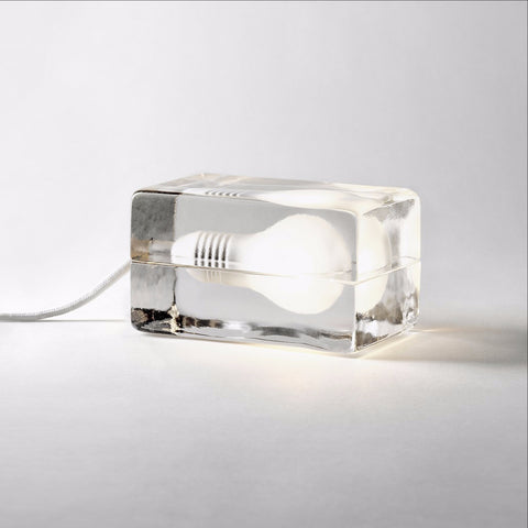 Block lamp white cord