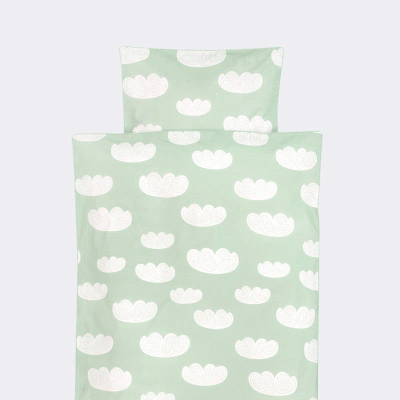 Cloud Junior Bedding, Mint, by Ferm Living