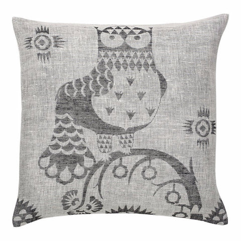 Taika linen cushion cover grey 50 x 50 cm