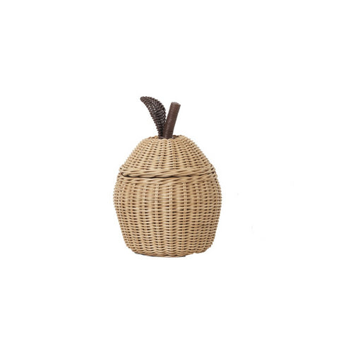 Small Apple Braided Storage Basket