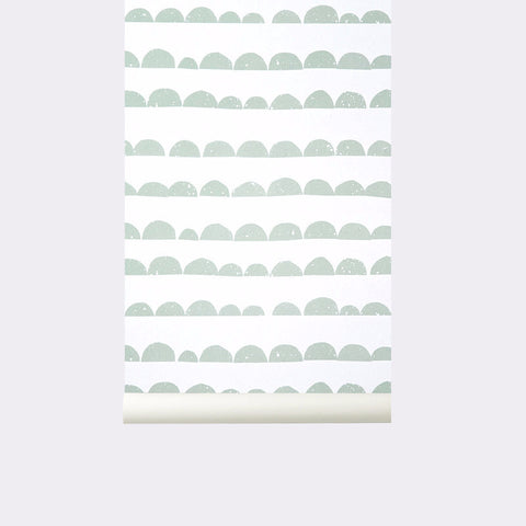 Half Moon Wallpaper Mint