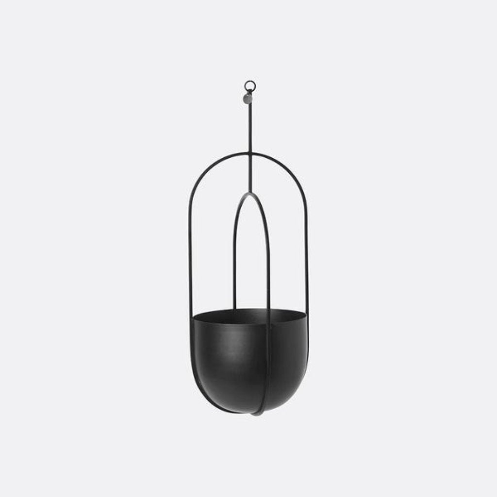 Ferm Living Hanging Deco Pot Black