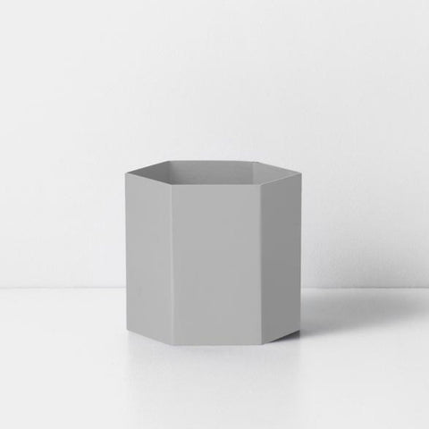 Hexagon Pot Light Grey L