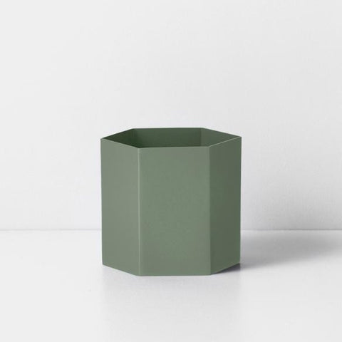 Vaso Hexagon L dusty green