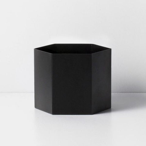 Hexagon Pot Black XL