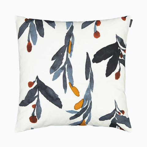 Hyhmä Cushion Cover, white, blue, orange 45x45 cm