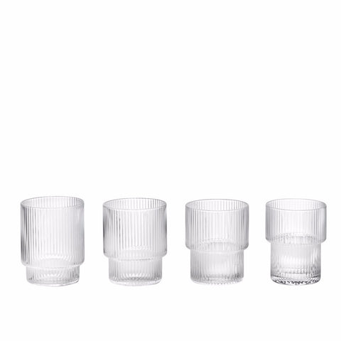 Ripple Glasses set of 4