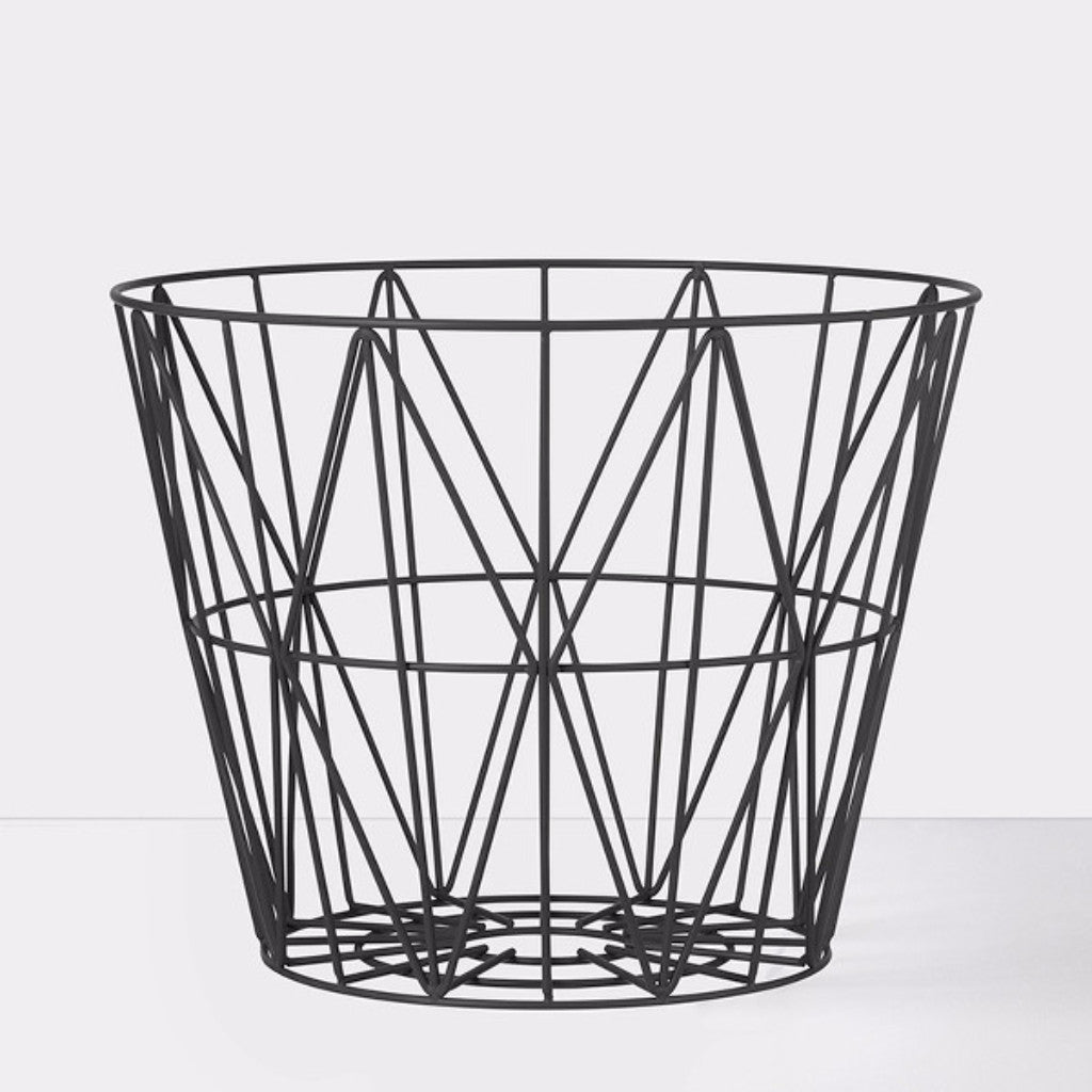 Cesto Wire nero medio di ferm LIVING