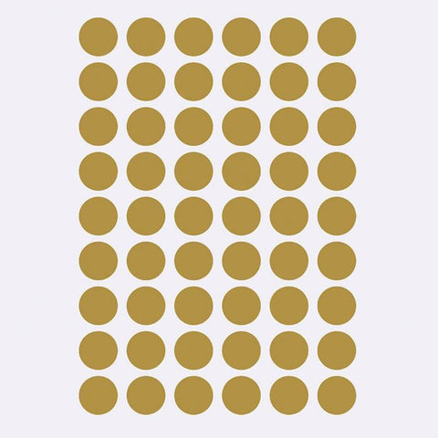 Mini Dots Wallsticker, Brass