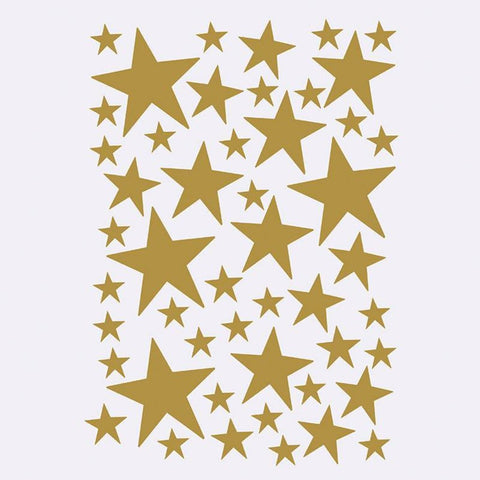 Mini Stars Wallsticker, Brass