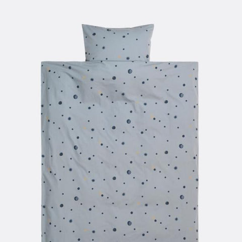 Moon Adult Bedding, faded blue