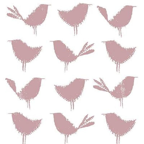 Napkin Birds, white & rose