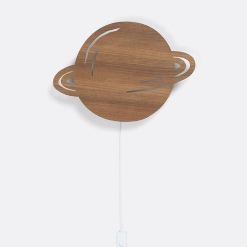 Planet Lamp, smoked oak