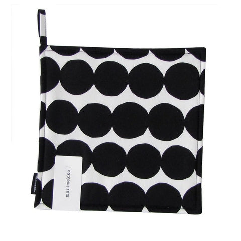 Räsymatto Pot Holder, black & white