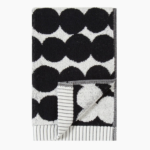 Räsymatto guest towel, black & white 30x50cm