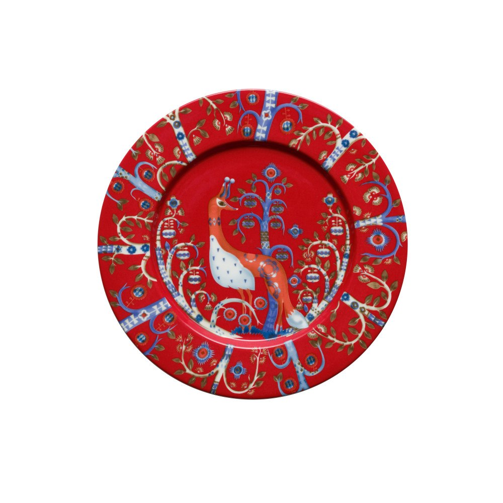 Taika plate 22 cm red by Iittala