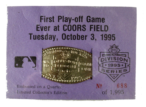 First Playoff Game Ever at Coors Field