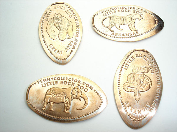 Little Rock Zoo 4 Coin Set