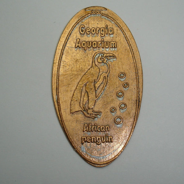Pressed Penny: Georgia Aquarium - African Penguin