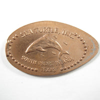 Pressed Penny: Sea Turtle, Inc. - South Padre Island, TX - Dolphin