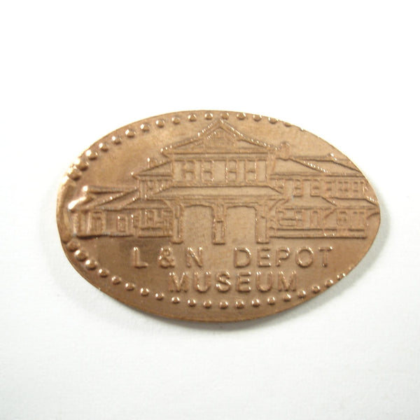Pressed Penny: L&N Depot Museum - City of Etowan Tennessee