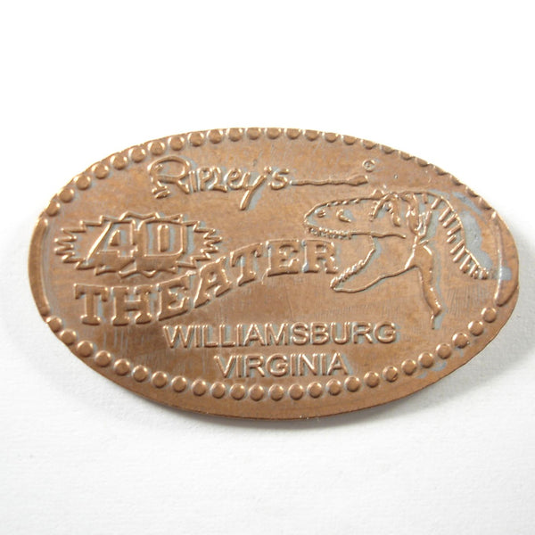 Pressed Penny: Ripley's 4D Theater - Williamsburg, Virginia - Dinosaur