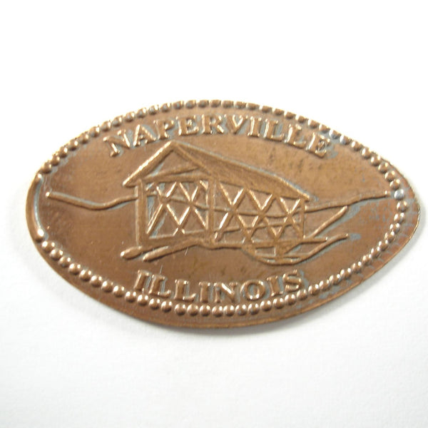 Pressed Penny: Naperville Illinois - Covered Bridge