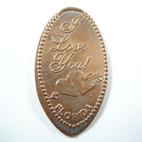 Pressed Penny: I Love You - Florida - Cupid