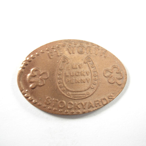 Pressed Penny: Fort Worth Stockyards - My Lucky Penny - Horseshoe