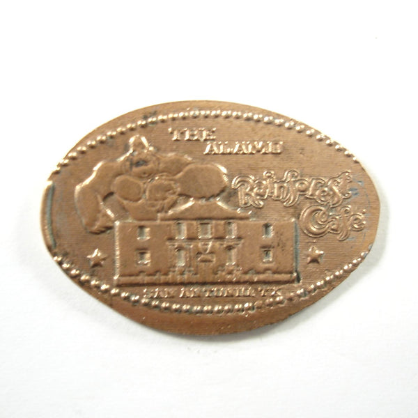 Pressed Penny: Rainforest Café - The Alamo - San Antonio TX - Gorilla and Alamo