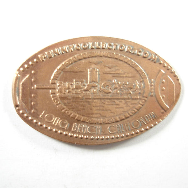 Pressed Penny: Long Beach, California - Skyline Through Porthole