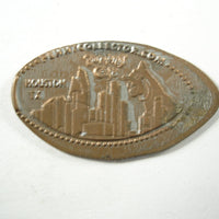 Pressed Penny: Rainforest Café - Houston, TX - Leopard and Houston Skyline