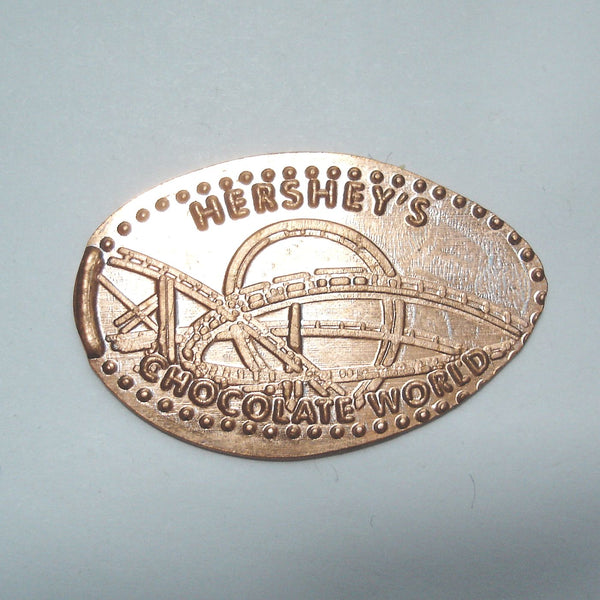 Pressed Penny: Hershey's Chocolate World - Roller Coaster